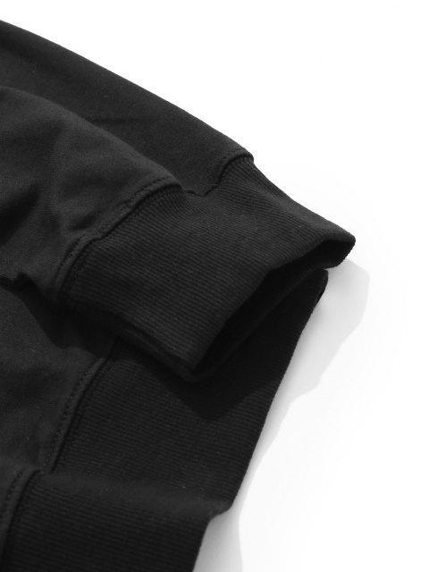 lady Lounge Smiley Face Graphic Crew Neck Sweatshirt - BLACK XL Mobile