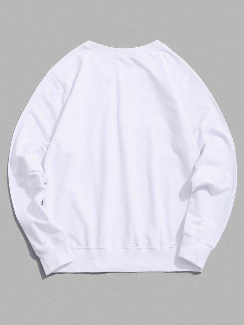outfits Lounge Smiley Face Graphic Crew Neck Sweatshirt - WHITE XL Mobile