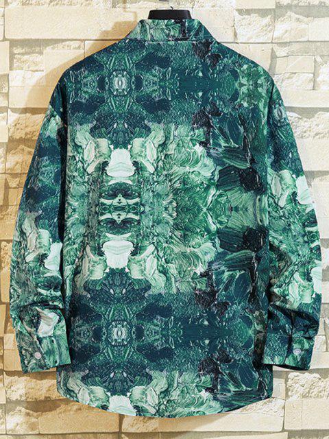 sale Paint Print Long Sleeve Shirt - MULTI-B M Mobile