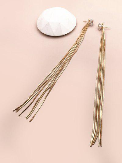Star Alloy Tassel Dangle Earrings - Golden