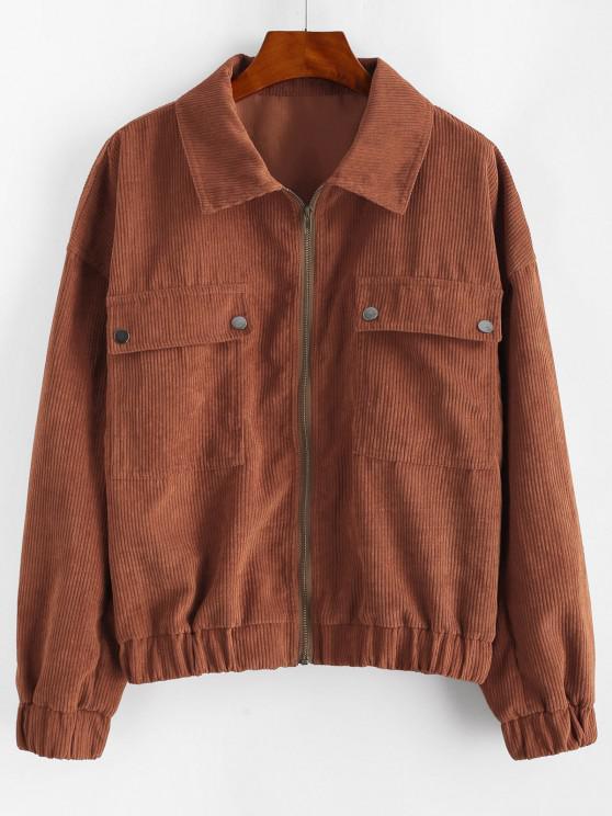 shops Full Zip Corduroy Cargo Jacket - DARK GOLDENROD S