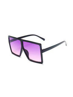 Oversized Ombre Square Sunglasses - Purple