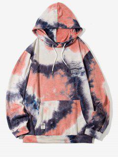 Felpa Con Cappuccio Grafica Di Tie-Dye Con Applicazioni - Rosa Chiaro S