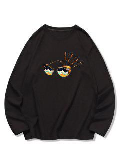Sunglasses Printed Long Sleeves T-shirt - Black 2xl
