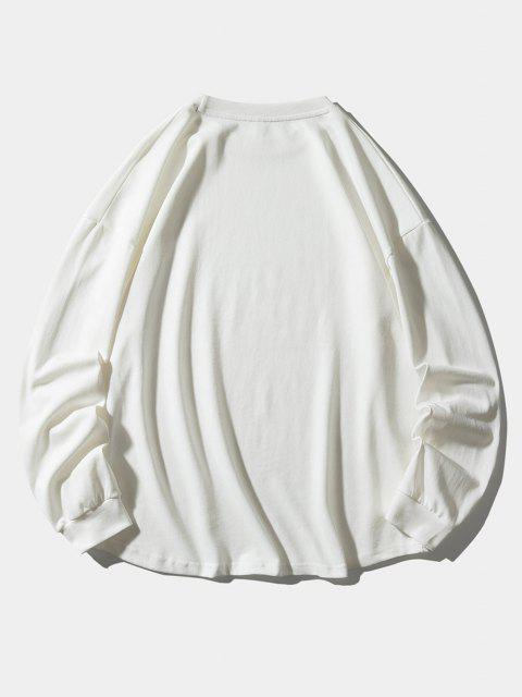 Sweat-shirt Motif de Lettre Méduses - Blanc XL Mobile