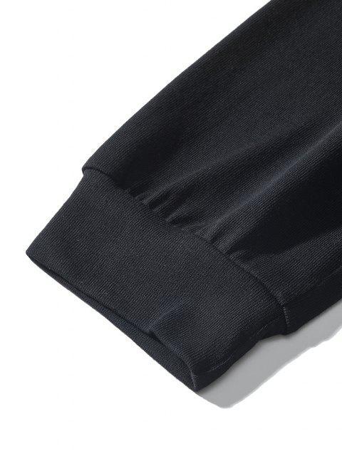 women's Letter Jellyfish Pattern Sweatshirt - BLACK L Mobile