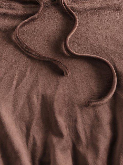 ZAFUL Vlies Crop Hoodie und Sport Anzug - Sepia XL Mobile
