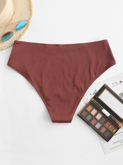 ZAFUL Bas de Bikini Côtelé Texturé de Grande Taille - Orange XXL Mobile