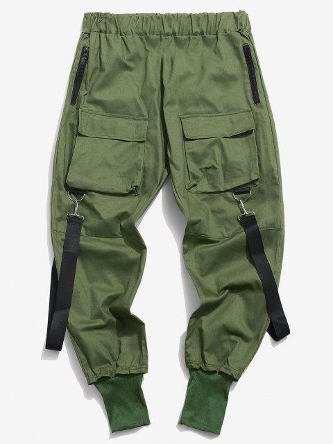 Pantalon Décontracté Cargo Multi-poches - Vert profond XS Mobile