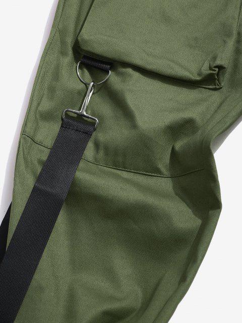 Mehrere Taschen Lässige Cargohose - Dunkelgrün 2XL Mobile