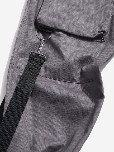 Mehrere Taschen Lässige Cargohose - Dunkelgrau M Mobile