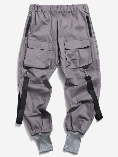 Pantalon Décontracté Cargo Multi-poches - Gris Foncé 2XL Mobile