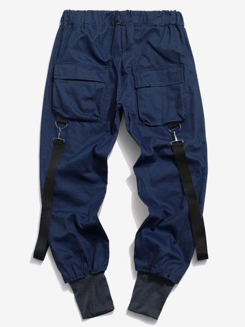 Pantalon Décontracté Cargo Multi-poches - Bleu profond S Mobile
