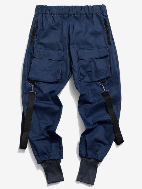 Mehrere Taschen Lässige Cargohose - Tiefes Blau M Mobile