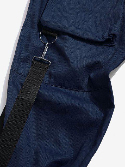 Pantalon Décontracté Cargo Multi-poches - Bleu profond L Mobile