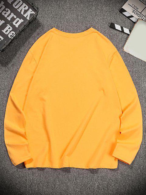 Camisa Marco de Mangas Compridas Fácil Limpeza - Marrom Dourado 2XL Mobile