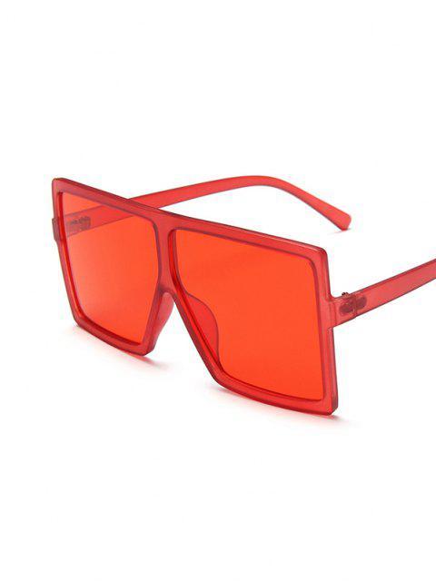 sale Oversized Square Retro Sunglasses - RED  Mobile