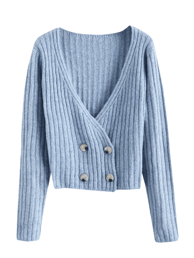 Low Cut Double Breasted Cardigan