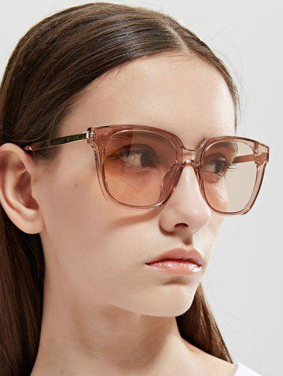 Transparent Rim Square Sunglasses - Light Orange