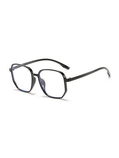 Polygonal Anti Blue Light Glasses - Black