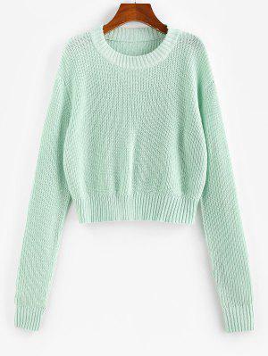 zaful ZAFUL Drop Shoulders Crop Sweater