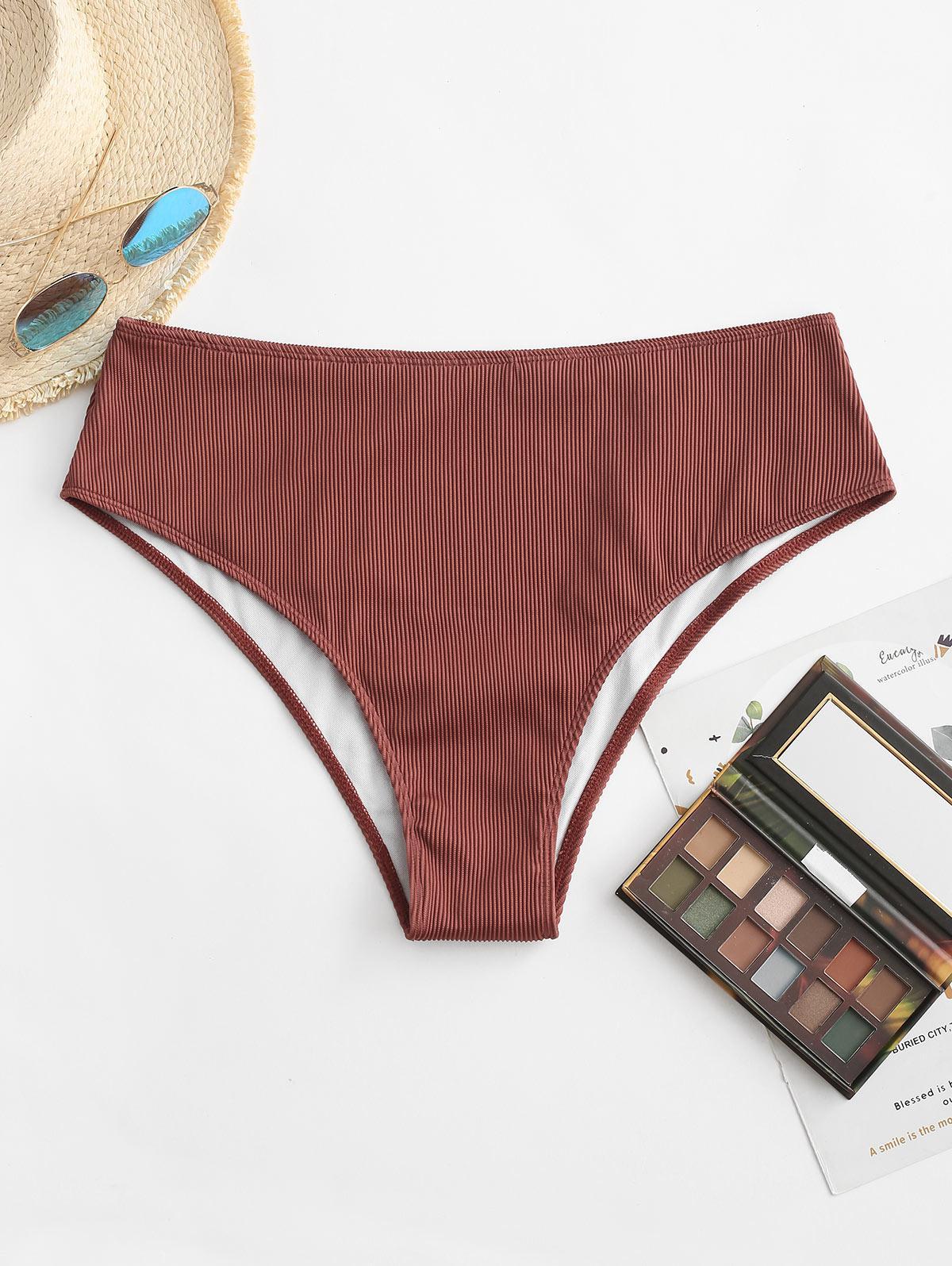 ZAFUL Plus Size Textured Ribbed Bikini Bottom