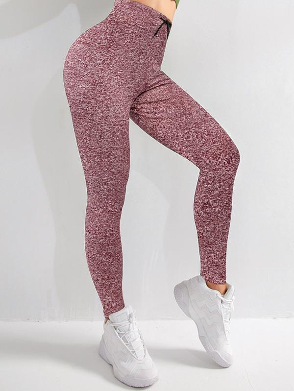 Drawstring Heather Skinny Leggings