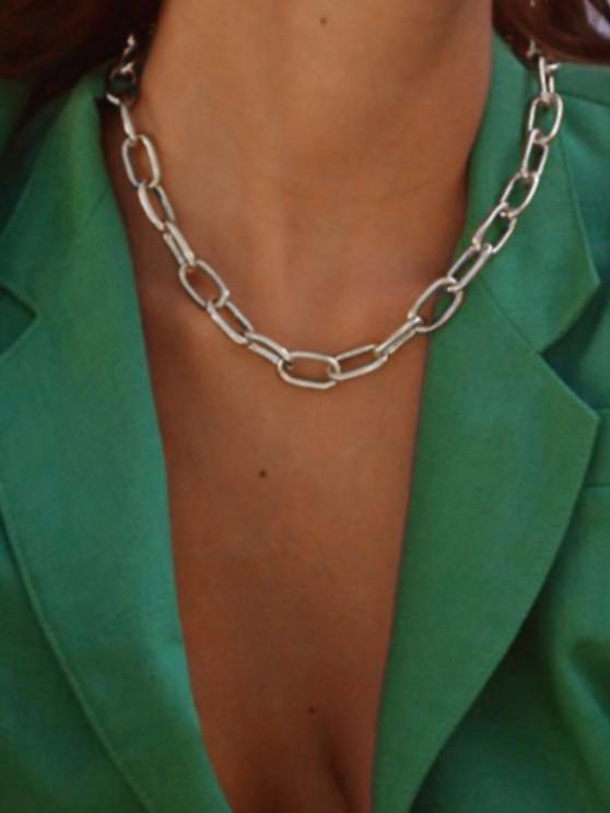 new Chunky Chain Collarbone Necklace - SILVER