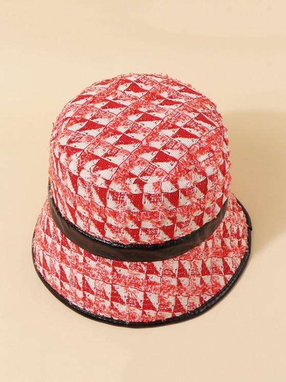 Tweed Plaid Bucket Hat - Lava Red