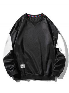 Sweat-shirt En Blocs De Couleurs Panneau à Manches Raglan - Noir M
