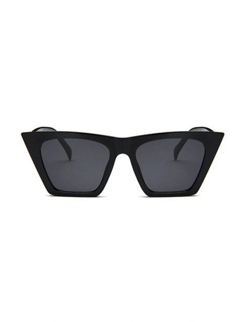 fancy Trapezoid Wide Rim Sunglasses - BLACK  Mobile