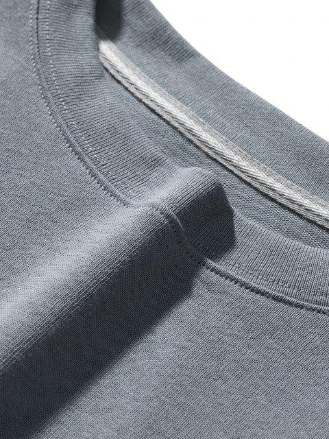 Sweat-shirt Ange Dessin Animé Lettre Imprimée à Goutte Epaule - Bleu-gris 2XL Mobile