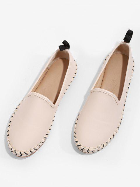 Zapatos Planos Puntiagudos Gamuza - Blanco Cálido EU 38 Mobile