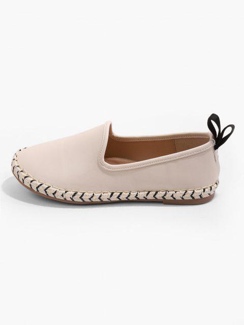 Zapatos Planos Puntiagudos Gamuza - Blanco Cálido EU 40 Mobile