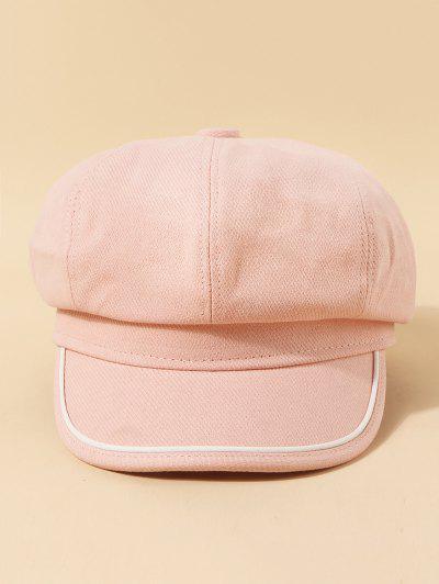 Piped Octagonal Cap - Light Pink