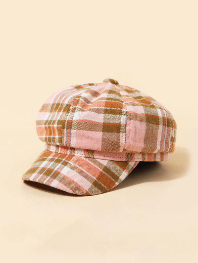 Lattice Pattern Octagonal Cap - Light Pink