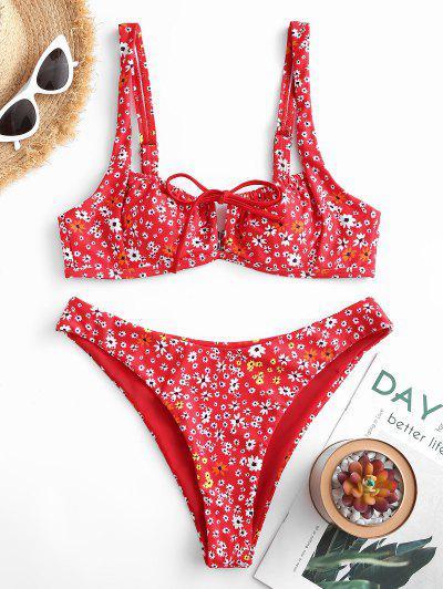 Ditsy Floral Print Bikini Swimwear