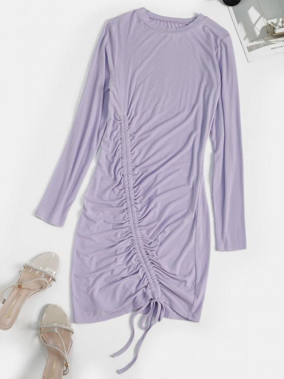 new Cinched Mini Bodycon Dress - LIGHT PURPLE S