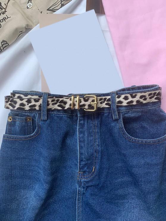 Leopard Pattern Thin Pin Buckle Belt - متعددة-A