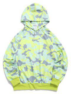 ZAFUL Sweat à Capuche Camouflage Imprimé Avec Poche En Avant - Vert M