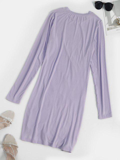 Mini Robe Moulante Sanglée - Violet clair L Mobile
