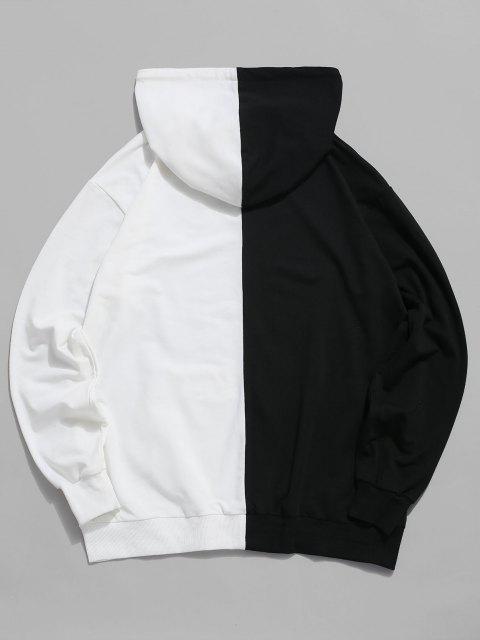 trendy ZAFUL Two Tone Bird Print Hoodie - MULTI XL Mobile