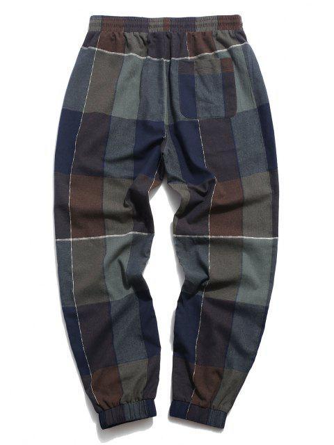 ZAFUL Pantalones de Estampado de Patchwork - Multicolor L Mobile