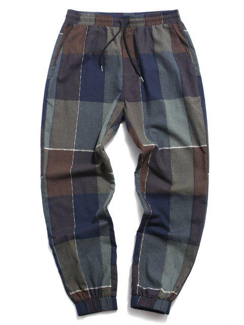 ZAFUL Pantalones de Estampado de Patchwork - Multicolor 2XL Mobile