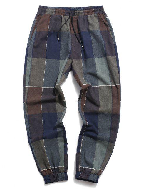 fashion ZAFUL Patchwork Pattern Beam Feet Pants - MULTI 2XL Mobile