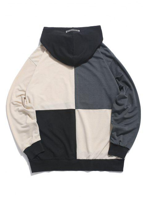 latest ZAFUL Colorblock Panel Front Pocket Hoodie - MULTI M Mobile