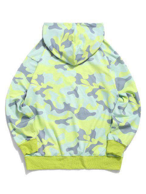 ZAFUL Sweat à Capuche Camouflage Imprimé avec Poche en Avant - Vert S Mobile
