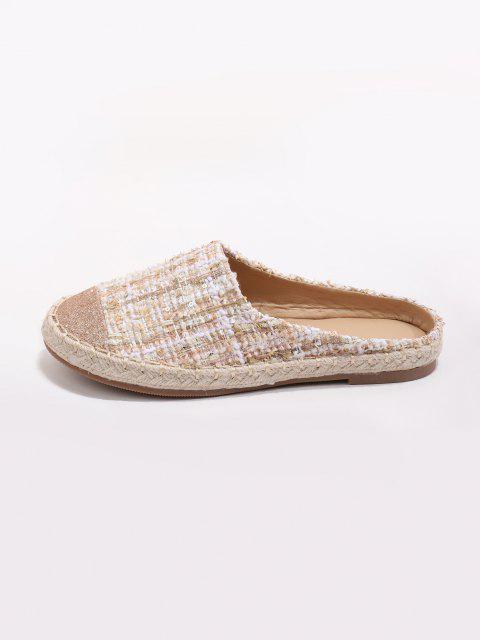 Glänzende Tweed Flache Schuhe - Sakura Rosa EU 39 Mobile