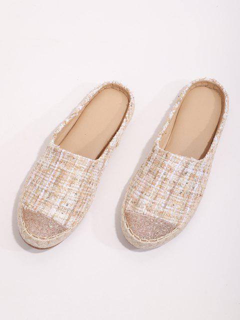Glänzende Tweed Flache Schuhe - Sakura Rosa EU 41 Mobile