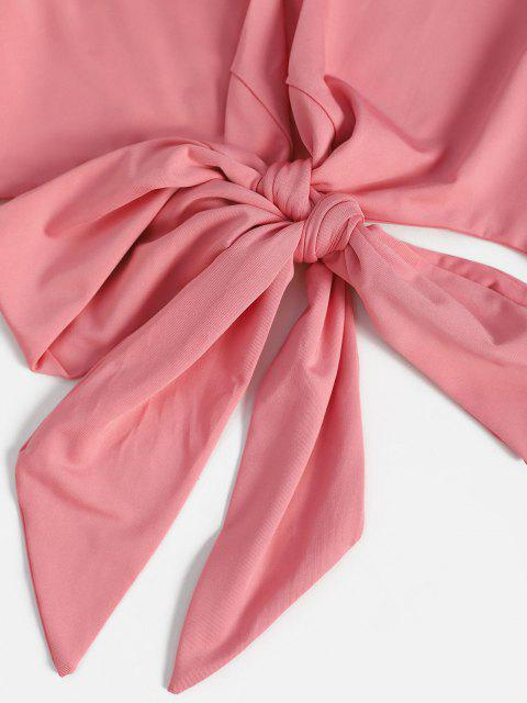 T-shirt da Cortado da Manga Flare - Luz rosa L Mobile